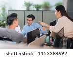business people discussing in... | Shutterstock . vector #1153388692