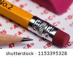 a 1 1 macro of the eraser end...   Shutterstock . vector #1153395328