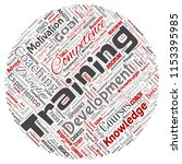 vector conceptual training ... | Shutterstock .eps vector #1153395985