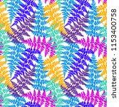 fern frond herbs  tropical... | Shutterstock .eps vector #1153400758