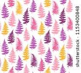 fern frond herbs  tropical... | Shutterstock .eps vector #1153400848