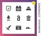 modern  simple vector icon set... | Shutterstock .eps vector #1153403452