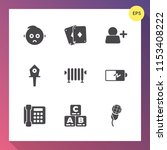 modern  simple vector icon set... | Shutterstock .eps vector #1153408222