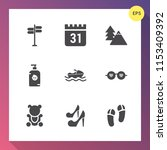 modern  simple vector icon set... | Shutterstock .eps vector #1153409392