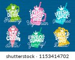 sketch style  food lettering... | Shutterstock .eps vector #1153414702