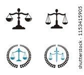 law firm logo   Shutterstock .eps vector #1153415905