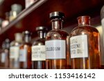 interior of drugstore museum.... | Shutterstock . vector #1153416142