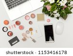 beauty or fashion blogger... | Shutterstock . vector #1153416178