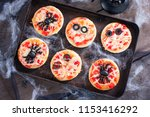 Mini Pizza For Halloween With...