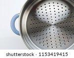 stainless steel of steamer on... | Shutterstock . vector #1153419415