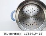 stainless steel of steamer on... | Shutterstock . vector #1153419418