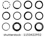 grunge vector circles. brush...   Shutterstock .eps vector #1153422952
