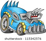 apocalyptic car vehicle vector | Shutterstock .eps vector #115342576