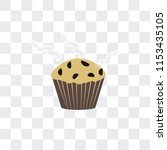 muffin vector icon isolated on... | Shutterstock .eps vector #1153435105