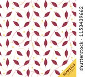 seamless pattern of dogwood... | Shutterstock .eps vector #1153439662