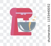 mixer vector icon isolated on... | Shutterstock .eps vector #1153440052
