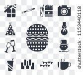 set of 13 transparent icons...