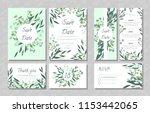 eucalyptus design. wedding... | Shutterstock .eps vector #1153442065