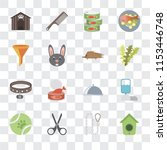 set of 16 transparent icons... | Shutterstock .eps vector #1153446748