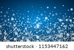 christmas frame with falling... | Shutterstock .eps vector #1153447162
