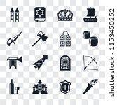 set of 16 transparent icons...