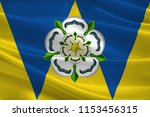 flag of west yorkshire is a... | Shutterstock . vector #1153456315