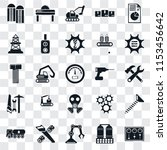 set of 25 transparent icons... | Shutterstock .eps vector #1153456642