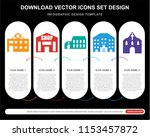 5 vector icons such as motel ... | Shutterstock .eps vector #1153457872