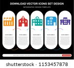 5 vector icons such as customs  ... | Shutterstock .eps vector #1153457878
