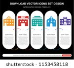 5 vector icons such as motel ... | Shutterstock .eps vector #1153458118