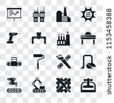 set of 16 transparent icons... | Shutterstock .eps vector #1153458388