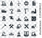 set of 25 transparent icons... | Shutterstock .eps vector #1153458412