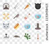 set of 16 transparent icons... | Shutterstock .eps vector #1153458415