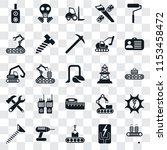 set of 25 transparent icons... | Shutterstock .eps vector #1153458472