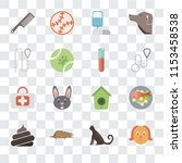 set of 16 transparent icons... | Shutterstock .eps vector #1153458538