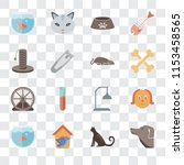 set of 16 transparent icons... | Shutterstock .eps vector #1153458565