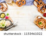 oktoberfest food menu  bavarian ... | Shutterstock . vector #1153461022