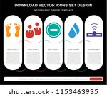 5 vector icons such as human... | Shutterstock .eps vector #1153463935