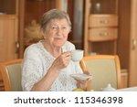 smiling elderly woman | Shutterstock . vector #115346398