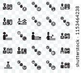 set of 25 transparent icons... | Shutterstock .eps vector #1153464238