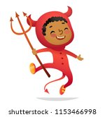 halloween kids costume party.... | Shutterstock .eps vector #1153466998