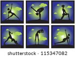 icons set silhouette of a... | Shutterstock .eps vector #115347082