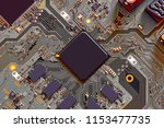 electronic circuit board close... | Shutterstock . vector #1153477735