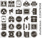 set of 25 icons such as film ...