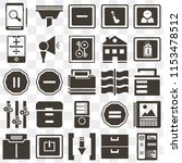 set of 25 icons such as resume  ...