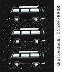 three black old hippie...   Shutterstock .eps vector #1153478908