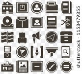 set of 25 icons such as equal ...