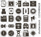 set of 25 icons such as target  ...