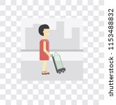 shopper vector icon isolated on ... | Shutterstock .eps vector #1153488832