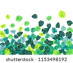 turquoise tropical jungle...   Shutterstock .eps vector #1153498192